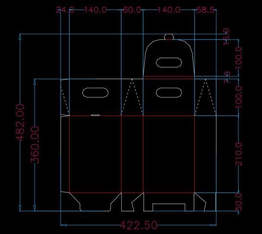 scatola su misura - progetto CAD