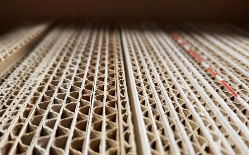 Fogli di cartone ondulato