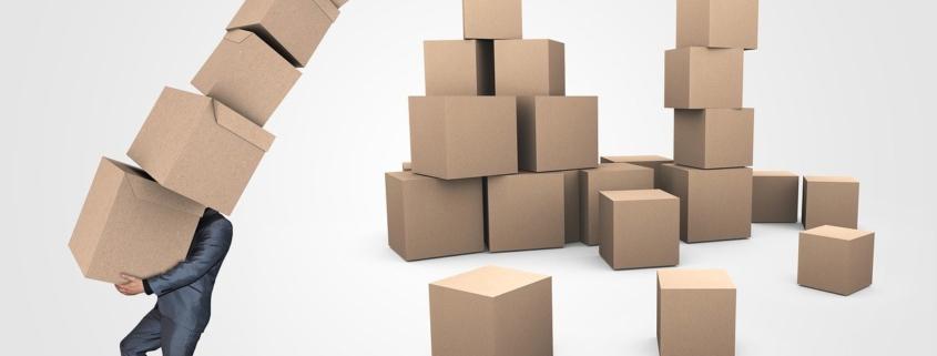 Scatole di cartone per traslochi: gli errori da evitare