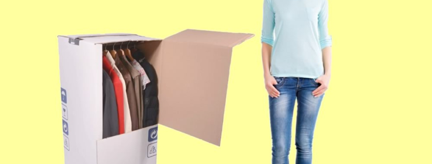 Le scatole di cartone per vestiti appendiabiti